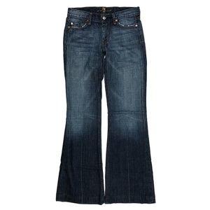 7 for all Mankind 27 Dojo Trouser Wide Leg Jeans